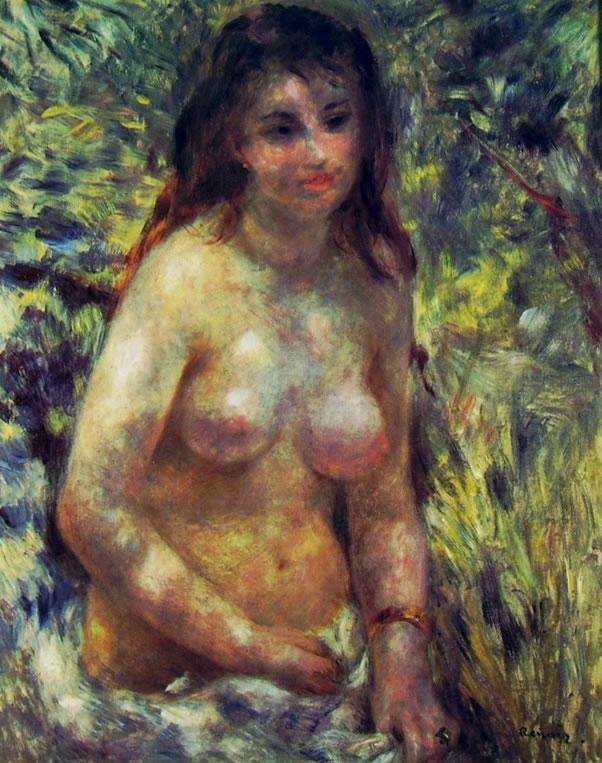 Donna nuda al sole (Museo d'Orsay) di Pierre-Auguste Renoir, 80 x 64 cm. Museo d'Orsay, Parigi