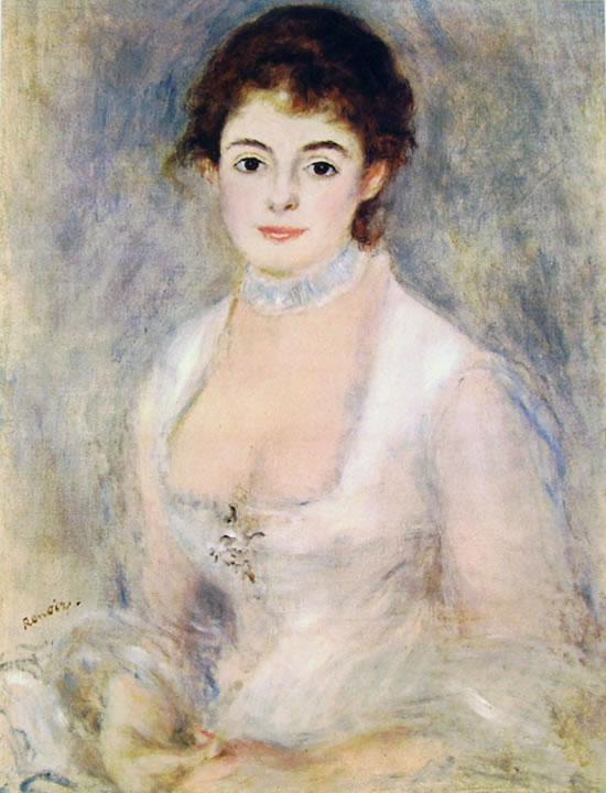 Renoir: Henriette Henriot in bianco, 70 x 55, National Gallery of Art Washington
