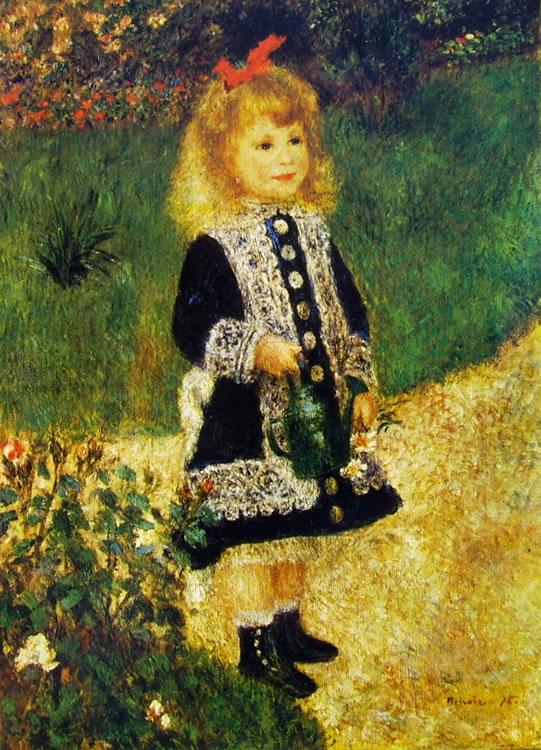 Renoir: Bambina con annaffiatoio, 1876, cm. 100 x 73, National Gallery of Art, Washington