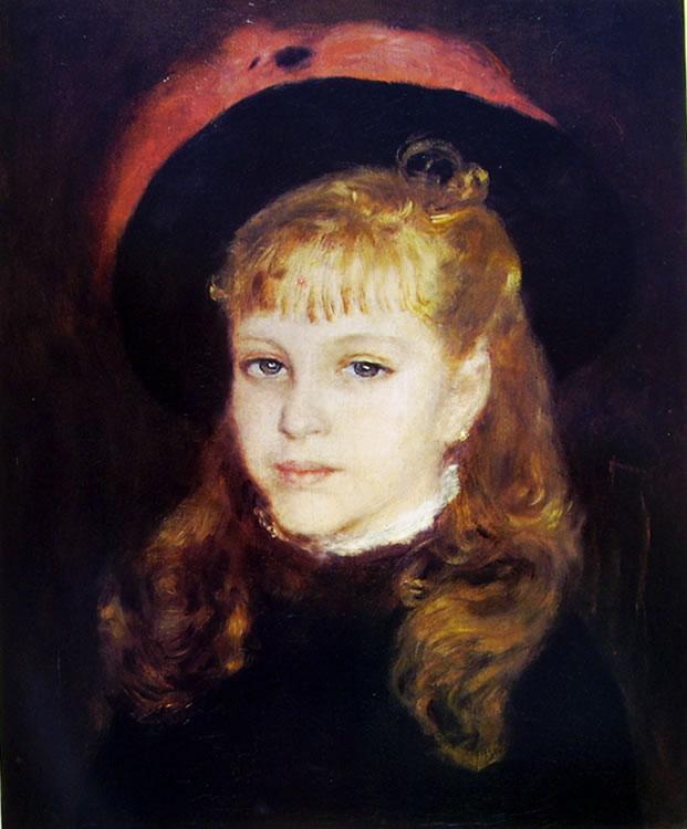 Giovanetta con cappello dalla piuma rossa, 1876, cm. 47 x 41, Niarchos, Parigi