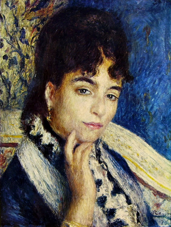 Renoir: Ritratto della signora Daudet, 1876, 47 x 37, Parigi, Museo d'Orsay