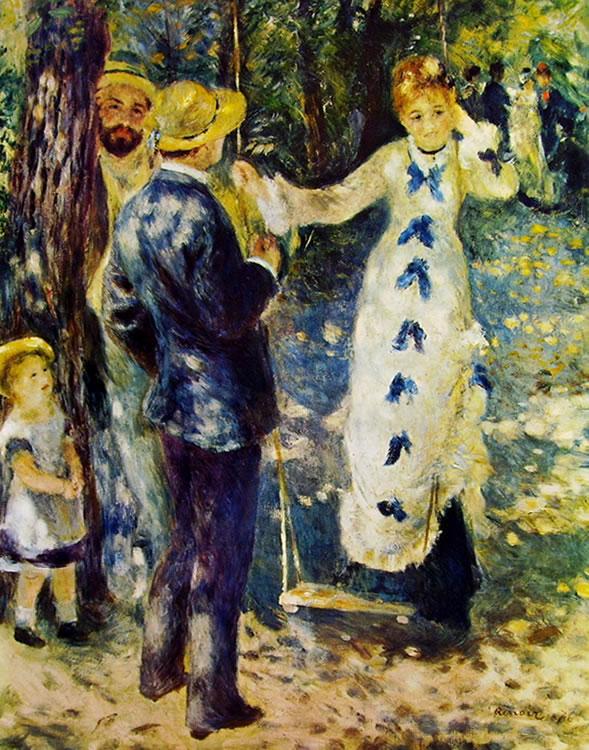 Renoir: L'altalena (Museo d'Orsay), 92 x 73, Parigi, Museo d'Orsay