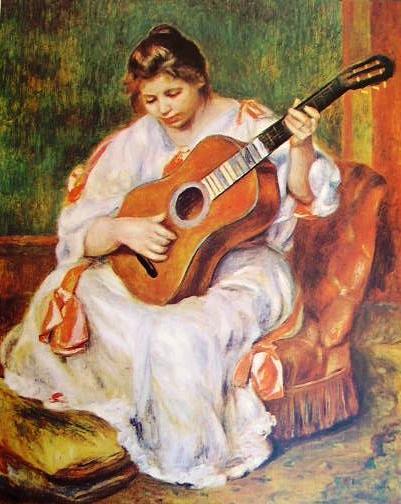 Renoir - Donna con chitarra (Lione)