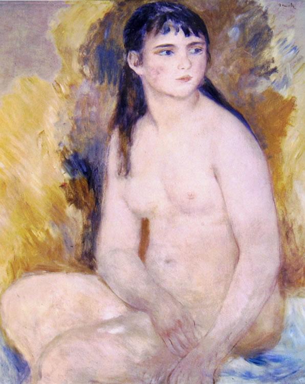 Renoir: Donna nuda seduta (Musée Rodin), cm. 80 x 65, Parigi