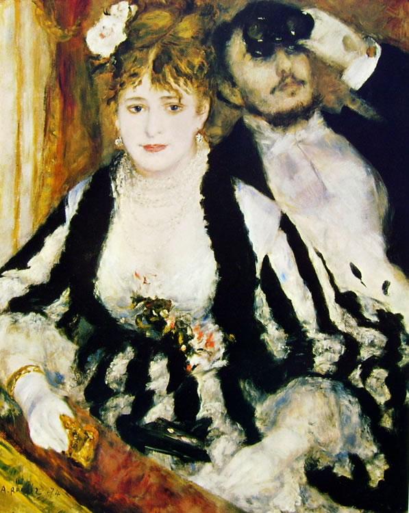Renoir: Il palco (Courtauld Gallery), 1874 olio su tela 80 x 64 Londra, Courtauld Gallery