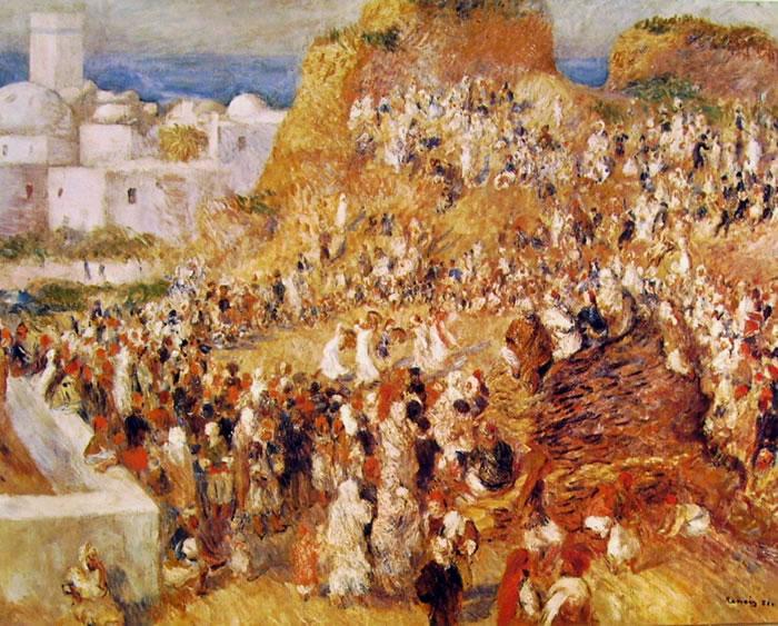 Renoir: Festa araba ad Algeri, 1881, 72 x 93, Parigi, Museo d'Orsay