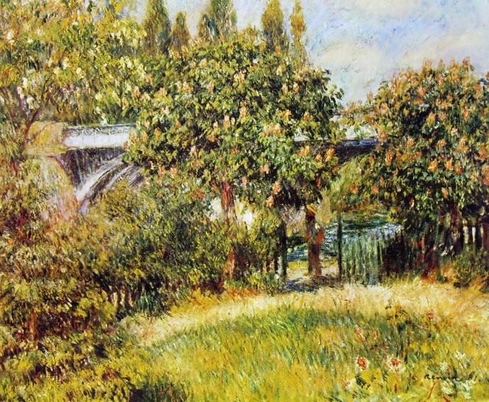 Renoir: Ponte della ferrovia (Museo d'Orsay), cm 54 x 75, Parigi, Museo d'Orsay