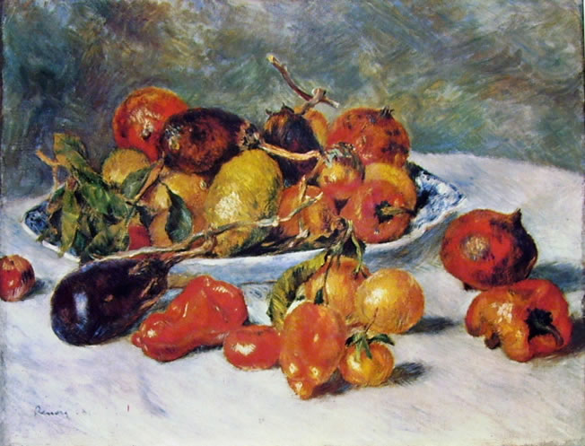 Frutta del meridione (Art Institute di Chicago) di Pierre-Auguste Renoir, 1881, 51 x 68,5, Art Institute di Chicago
