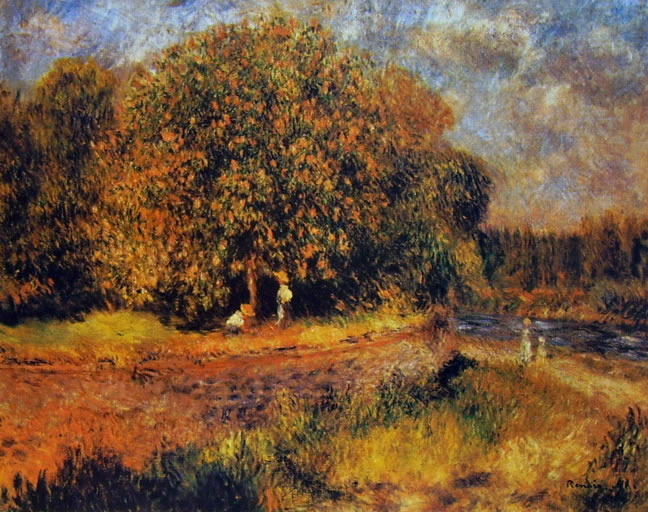 Castagno in fiore (Nationalgalerie Berlino) di Pierre-Auguste Renoir, 1881, 71 x 89, Nationalgalerie Berlino