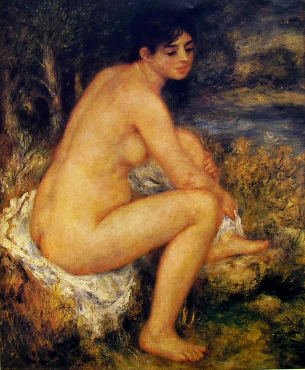Renoir: Bagnante che si asciuga un piede, 1883 65 x 55 Orangerie (Walter) Parigi