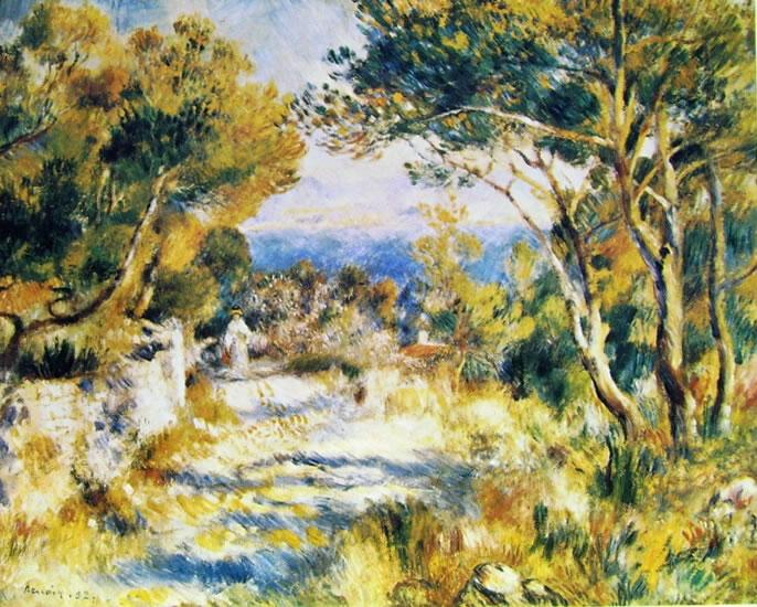 Renoir: Paesaggio all'Estaque (Paysage à l'Estaque), Museum of Fine Art Boston