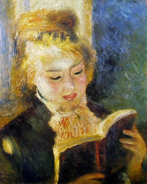 La Liseuse 1876, 47 × 38 cm. Parigi Museo d'Orsay