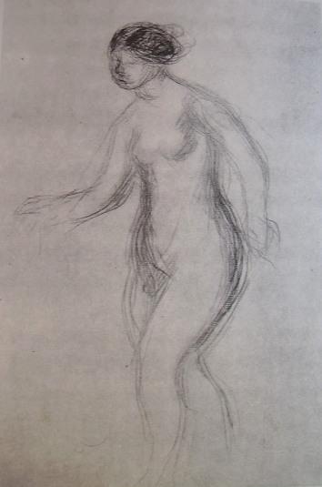 Renoir - Nudo femminile, matita