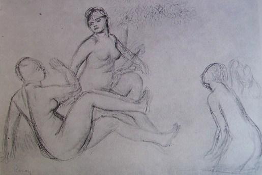 Renoir - Studio per le bagnanti, matita