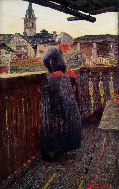 Sul balcone (Gottfried Keller-Stiftung) di Giovanni Giovanni Segantini
