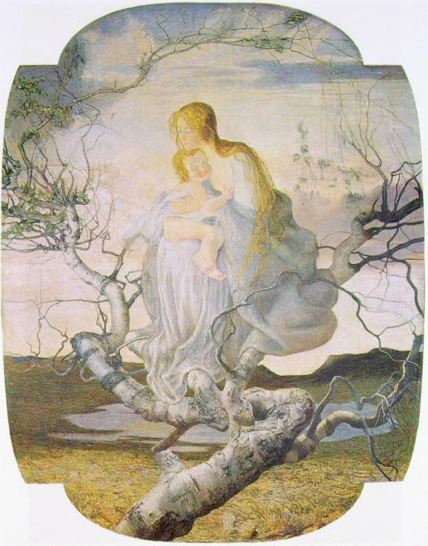 Giovanni Segantini: L'angelo della vita (Galleria d'Arte Moderna)
