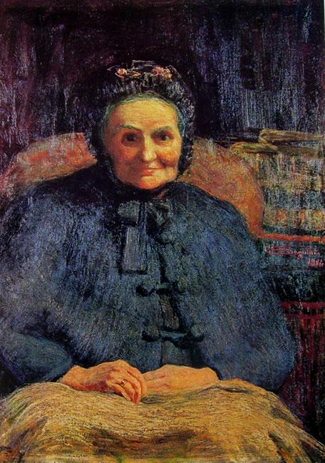 Ritratto della signora Gaetana Casiraghi Oriani di Giovanni Segantini