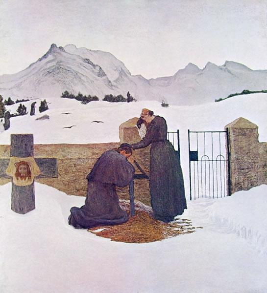 Giovanni Segantini: Il dolore confortato dalla fede