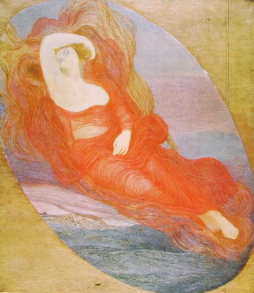 Giovanni Segantini: La dea d'amore (Galleria d'Arte Moderna)