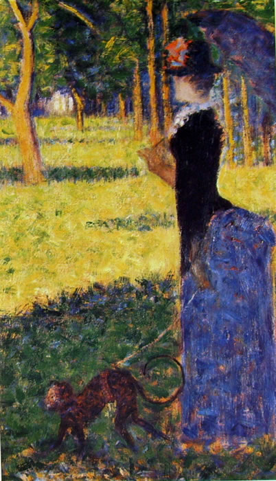 Georges-Pierre Seurat: Donna con ombrellino (Northampton)