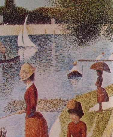 22 Georges Seurat - Particolari della grande Jatte