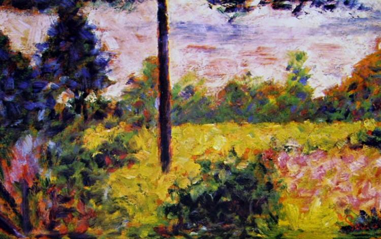 Georges-Pierre Seurat: Pianura con alberi a Barbizon