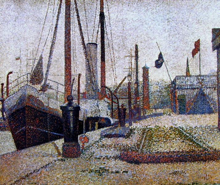 Georges-Pierre Seurat: La Maria a Honfleur