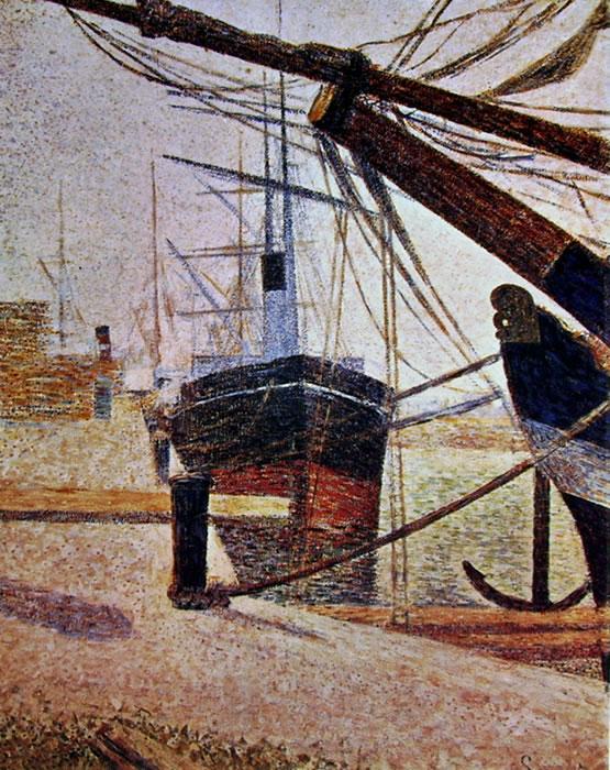 Georges-Pierre Seurat: La darsena a Honfleur