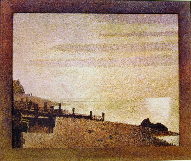 Georges-Pierre Seurat: La foce della Senna a Honfleur di sera