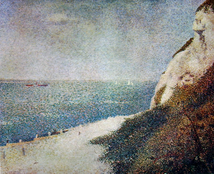 Georges-Pierre Seurat: La spiaggia di Bas-Butin a Honfleur