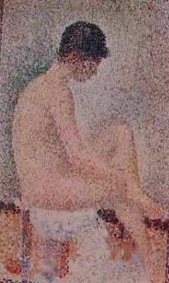 Seurat - Modella seduta di profilo