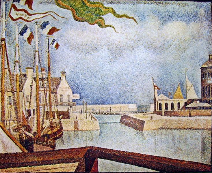 Georges-Pierre Seurat: Veduta a Port en-Bessin di domenica