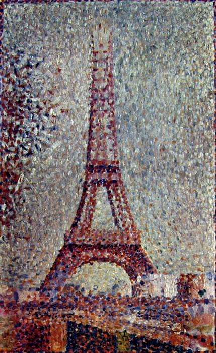 La torre eiffel di Georges-Pierre Seurat