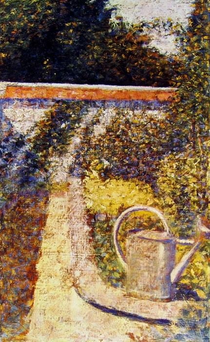 Georges-Pierre Seurat: L'innaffiatoio (collezione Rosenberg) di Georges-Pierre Seurat