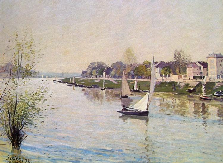 La Senna ad Argenteuil di Sisley