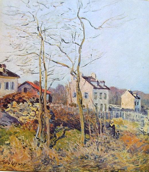 Alfred Sisley: Un angolo di Louveciennes