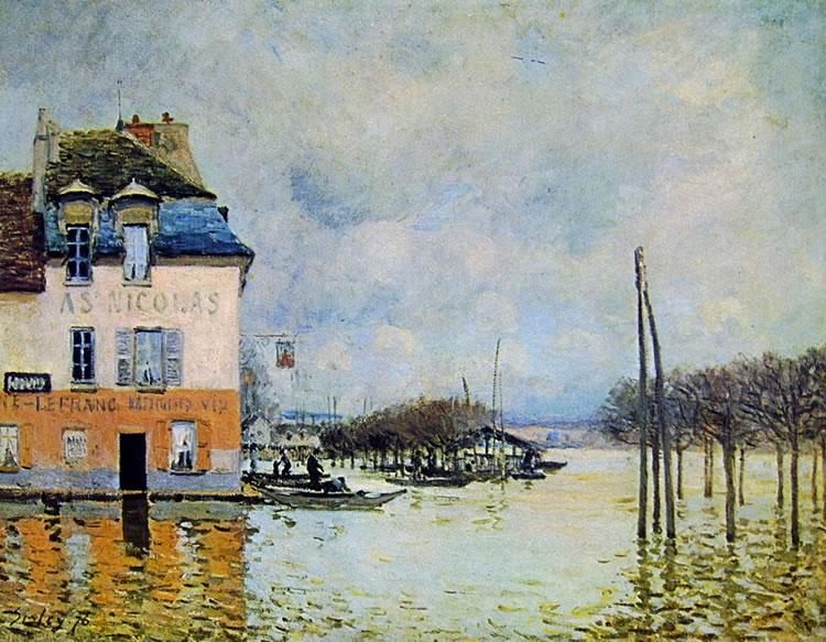 Alfred Sisley: L'inondazione a Port Marly