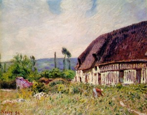 Sisley: Capanna in Normandia
