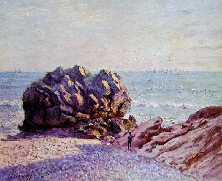 Alfred Sisley: Storr Rock - Lady's Cove di sera