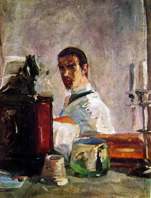 Autoritratto di Toulouse-Lautrec a 16 anni