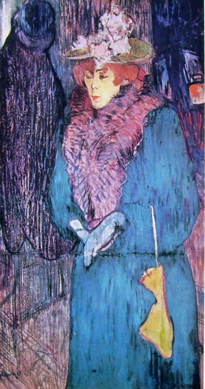 Toulouse-Lautrec: Jane Avril con i guanti