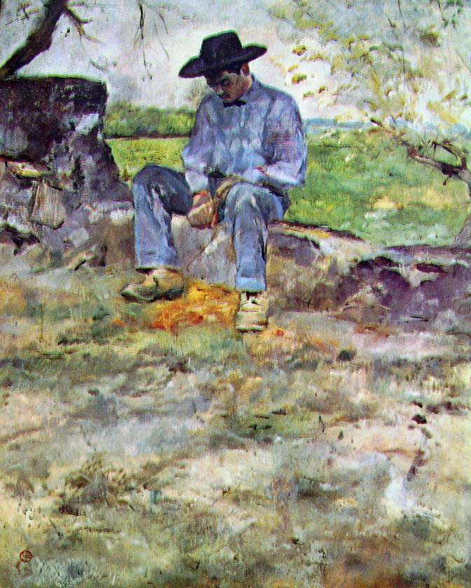Toulouse-Lautrec: Il giovane Routy a Celeyran
