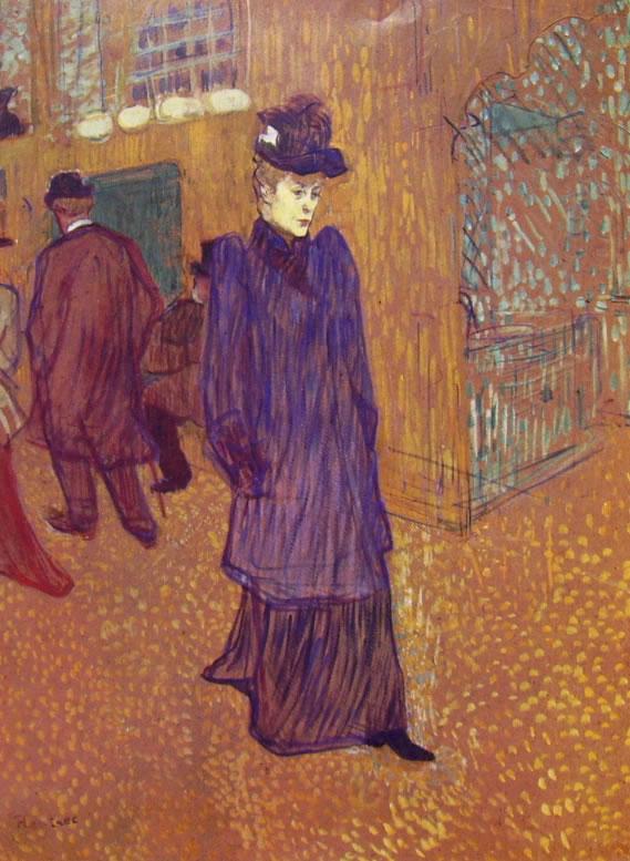 Toulouse-Lautrec: Jane Avril esce dal Moulin Rouge
