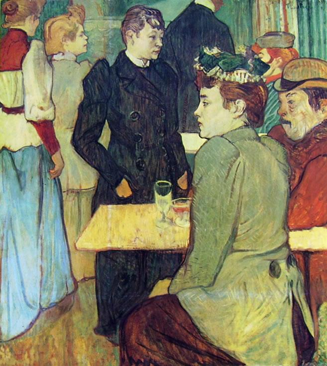 Toulouse-Lautrec: Un angolo del Moulin de la Galette