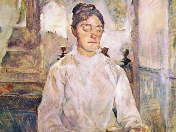 Henri Toulouse-Lautrec: La madre del pittore a colazione, cm. 81, Musée Toulouse-Lautrec, Albi.