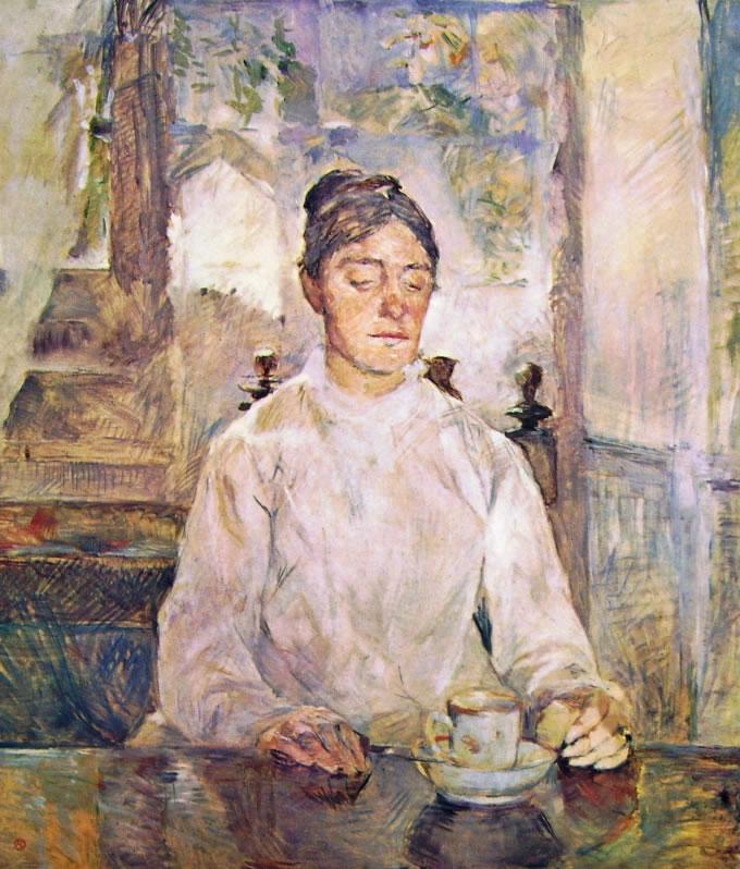 Toulouse-Lautrec: La madre del pittore a colazione