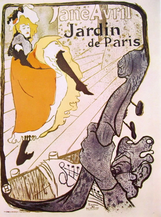 Toulouse-Lautrec: Jardin de Paris - Jane Avril