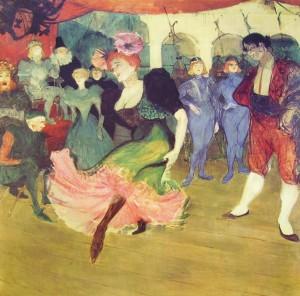 Henri Toulouse-Lautrec: Marcelle Lender danza il bolero in Chilperic, cm. 150, Collezione Whitney, New York.