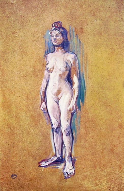Toulouse-Lautrec: Donna nuda in piedi