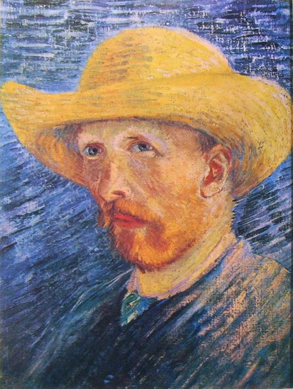 Autoritratto estate 1887 con cappello di paglia di Vincent van Gogh
